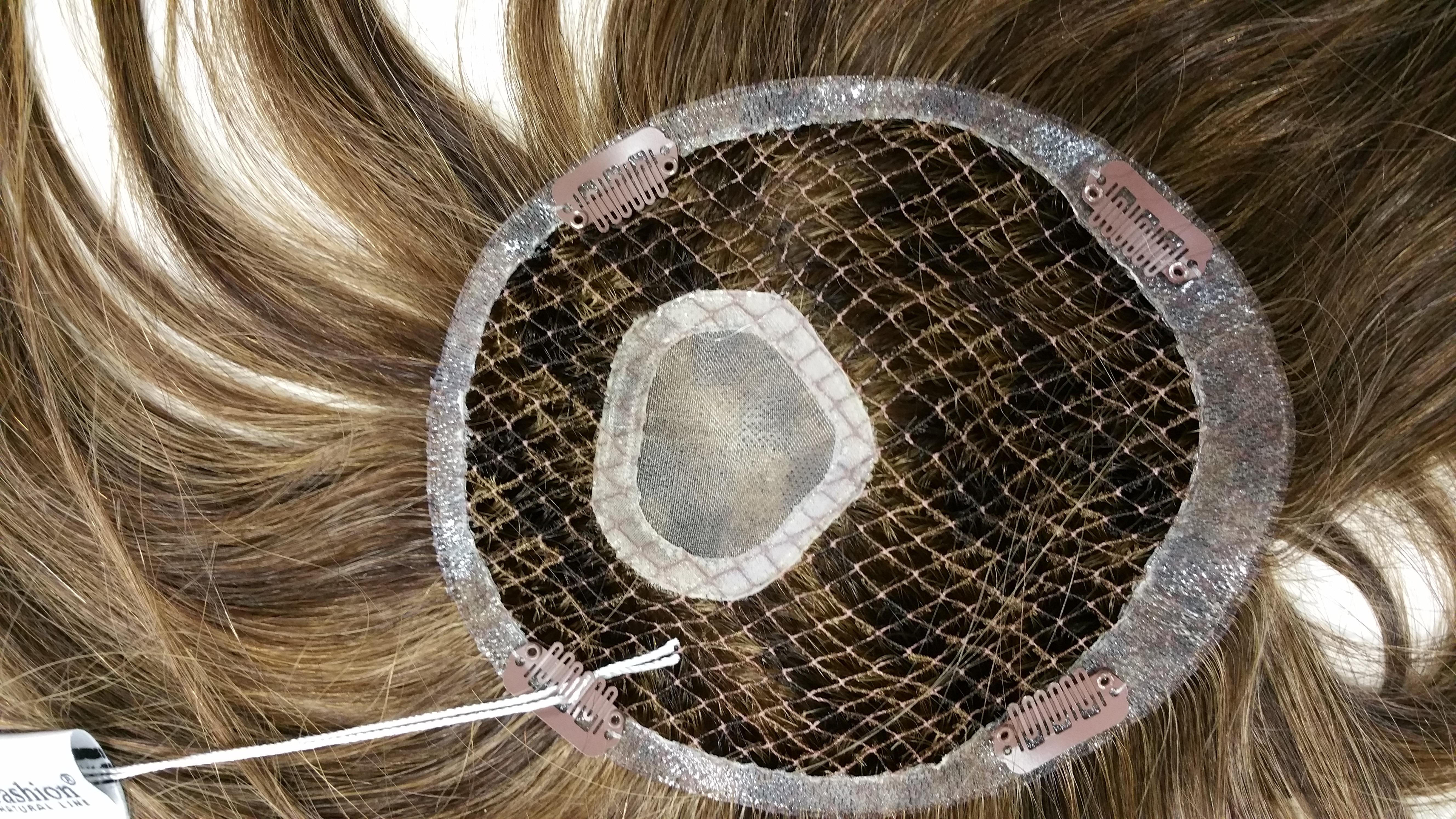 toupet capelli naturali con monofilamento
